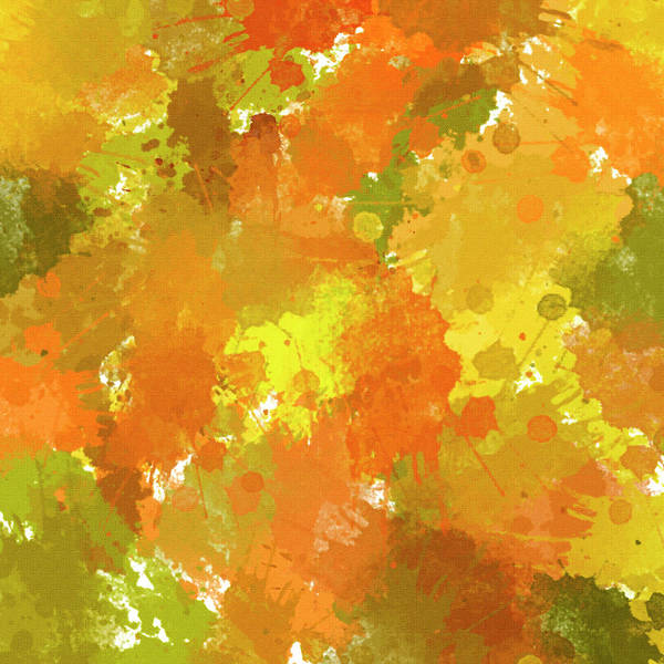Mixed Media - Fall Abstract by Christina Rollo