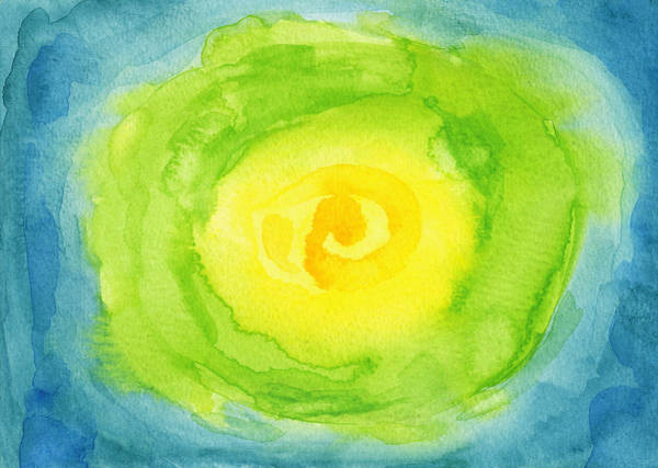 Ingredient Painting - Abstract Iceberg Lettuce by Kathleen Wong