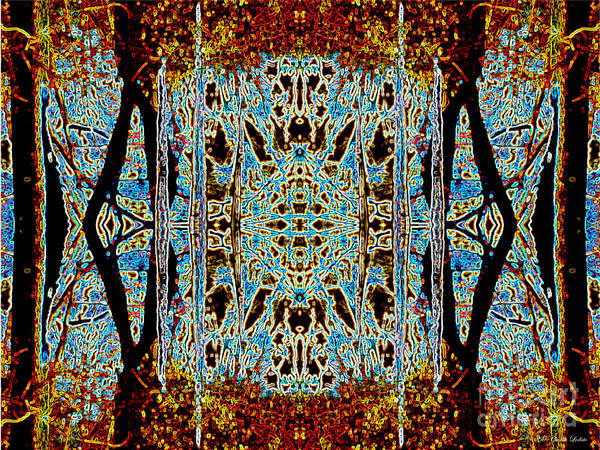Phish Digital Art - Abstract Icicles by Caitlin Lodato
