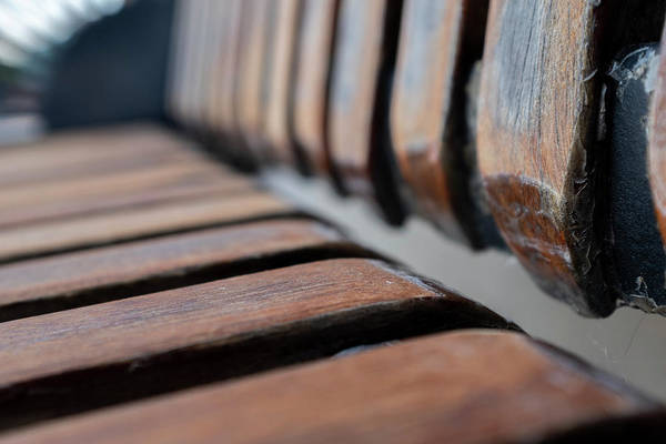 Abstract Image Of A Park Bench Near The Water In Green Bay Wisconsin Art Print