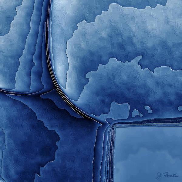 Female Nude Digital Art - Abstract In Blue by Joe Bonita
