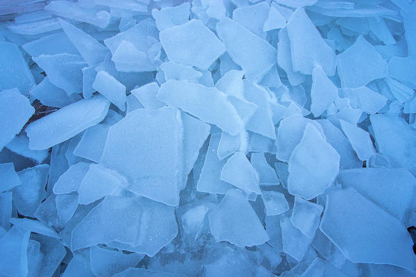 Abstract In Ice Art Print
