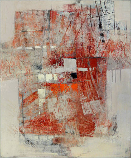 Painting - Abstract In Red 1 by Olga Shagina