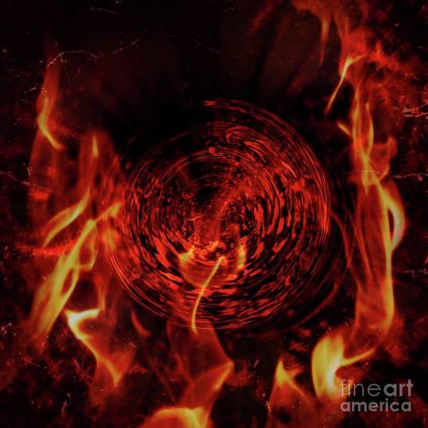 Digital Art - Abstract In The Fire by Swedish Attitude Design