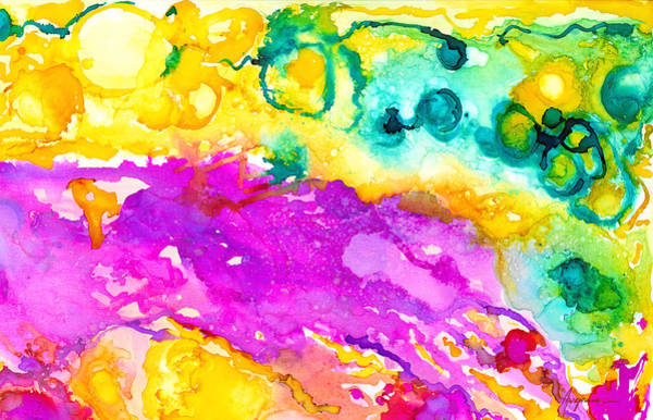 Painting - Transcendent Love Abstract Ink Art Colorful Wall Art by Patricia Awapara