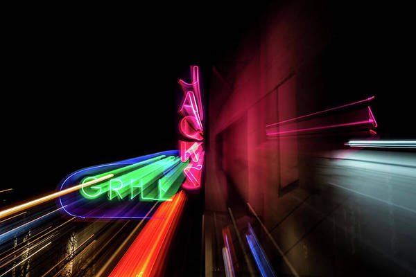 Neon Pink Photograph - Abstract Jacks by Marnie Patchett
