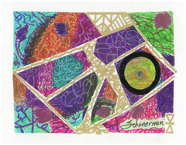 Drawing - Puzzle Jungle by Susan Schanerman