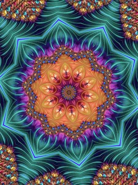 Digital Art - Abstract Kaleidoscope Art With Wonderful Colors by Matthias Hauser