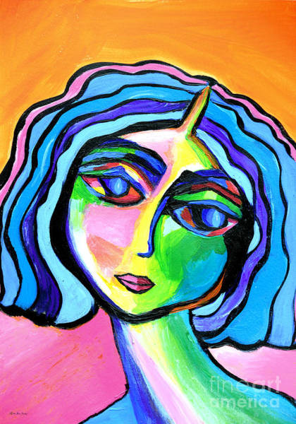 Painting - Abstract Lady A32916 by Mas Art Studio