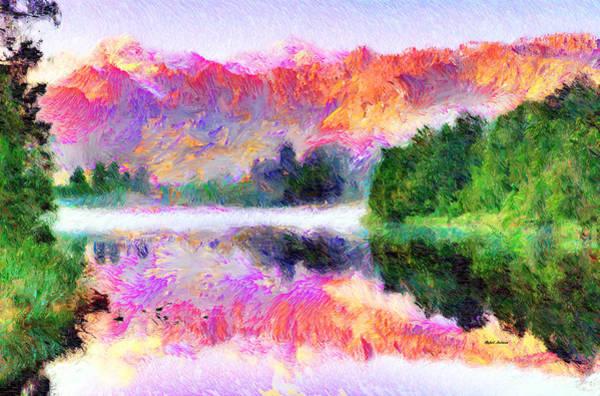 Mixed Media - Abstract Landscape 0743 by Rafael Salazar