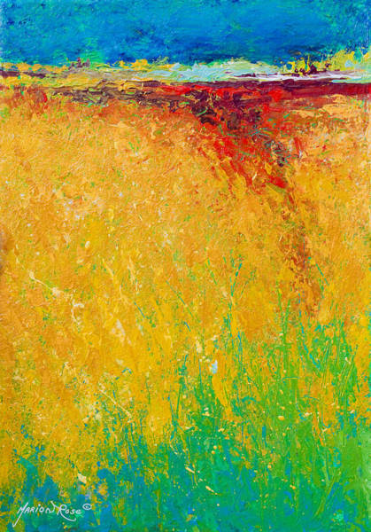 Scenic Landscape Painting - Abstract Landscape 1 by Marion Rose