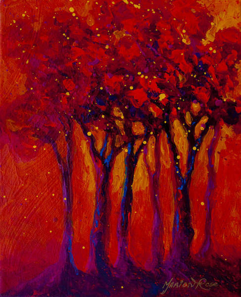 Scenic Landscape Painting - Abstract Landscape 2 by Marion Rose