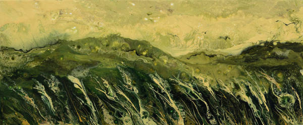 Lid Painting - Abstract Landscape by Alexandra Kiczuk