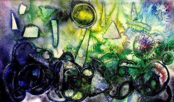 Abstract Watercolor Mixed Media - Abstract Landscape IIi by John  Nolan