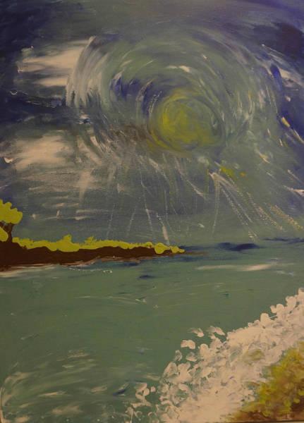 Fluid Acrylic Painting - Abstract Landscape - Laguna Coast by Adam Asar