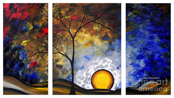Wall Art - Painting - Abstract Landscape Painting Dreams Do Come True Unique Original Modern Art By Megan Duncanson by Megan Duncanson