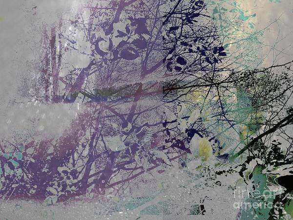 Photograph - Abstract Landscape Spring Under The Trees Purple, Green by Itsonlythemoon