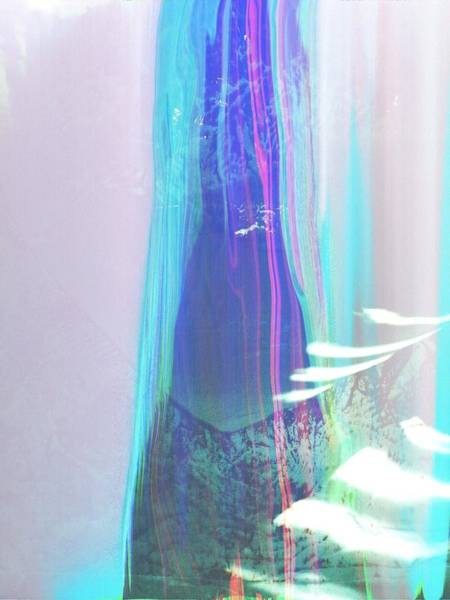 Photograph - Abstract Landscape Sweep Blue Aqua Purple by Itsonlythemoon