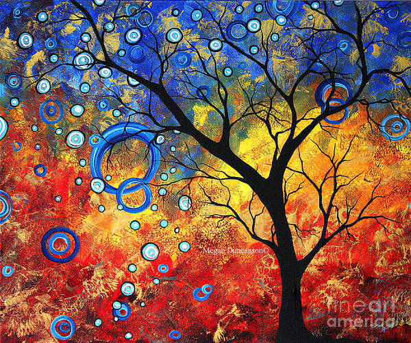 Wall Art - Painting - Abstract Landscape Tree Fine Art Prints Renewed Energy By Megan Duncanson by Megan Duncanson