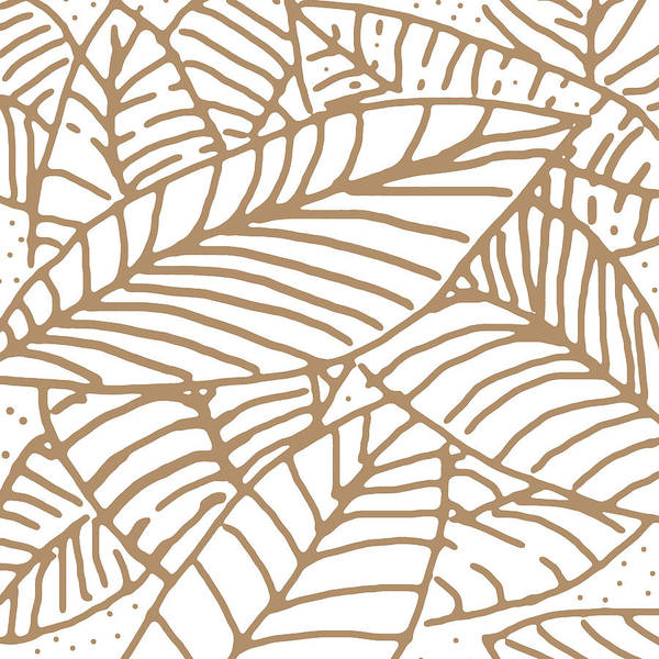 Digital Art - Abstract Leaves Iced Coffee by Karen Dyson