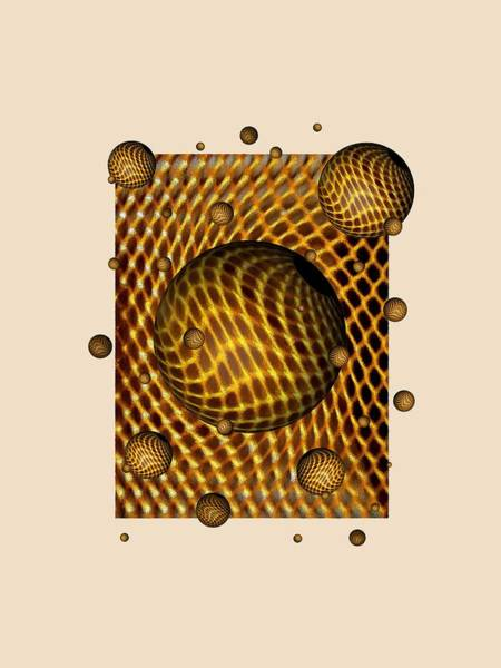 Amber Digital Art - Abstract - Life Grid by Glenn McCarthy Art and Photography