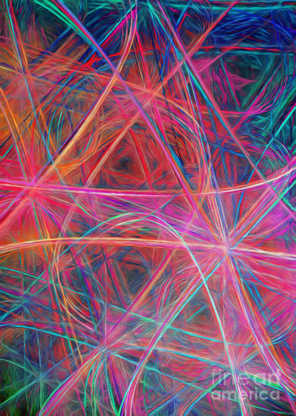Wall Art - Digital Art - Abstract Light Show by Andee Design