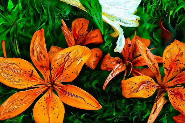 Photograph - Abstract Lilies Expression by Anna Louise
