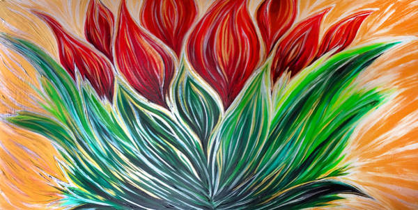 Painting - Abstract Lotus by Michelle Pier