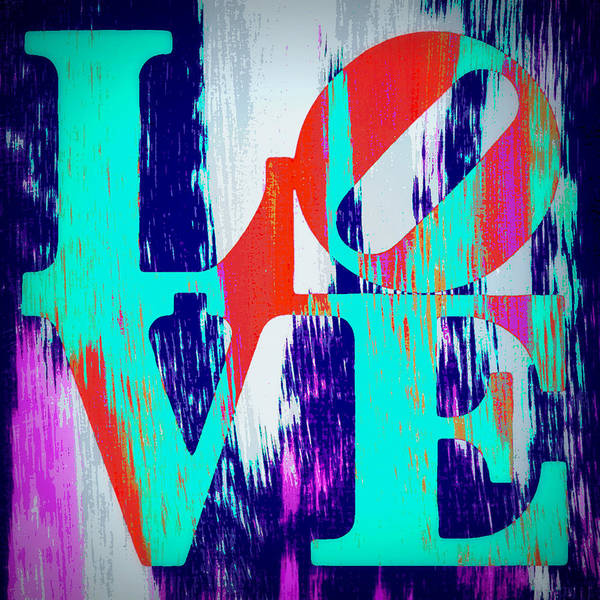 Teal Mixed Media - Abstract Love by Brandi Fitzgerald