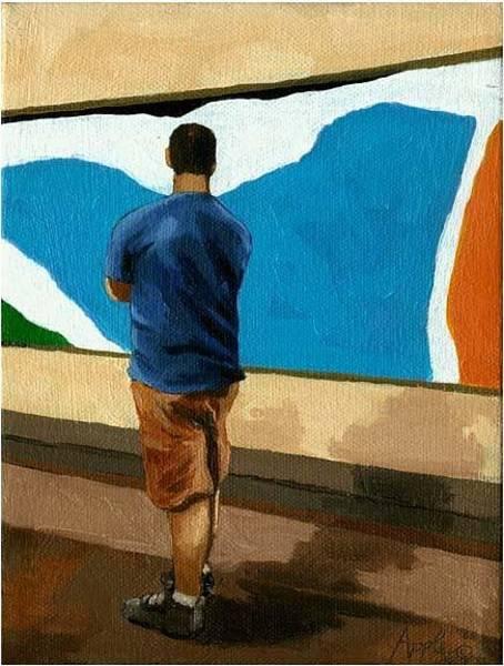 Wall Art - Painting - Abstract Man by Linda Apple