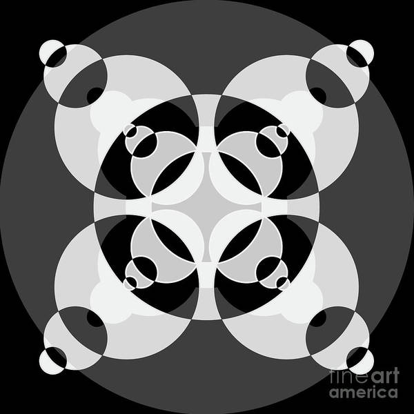Wall Art - Digital Art - Abstract Mandala Black, Gray And White Pattern For Home Decoration by Drawspots Illustrations