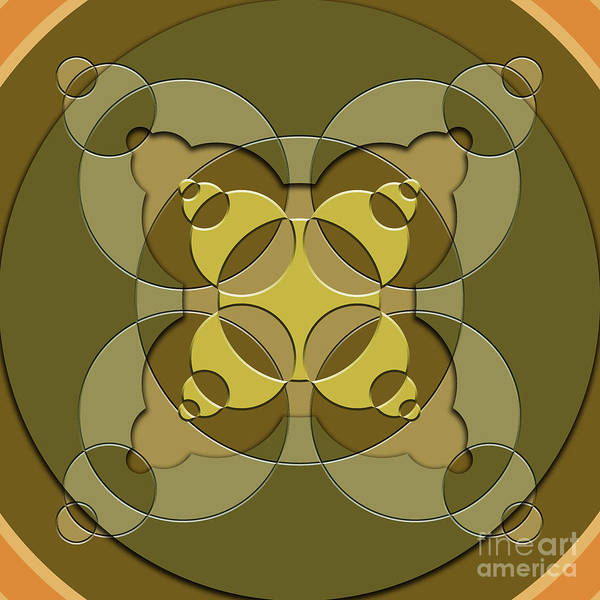 Wall Art - Digital Art - Abstract Mandala Green, Dark Green And Brown Pattern For Home Decoration by Drawspots Illustrations
