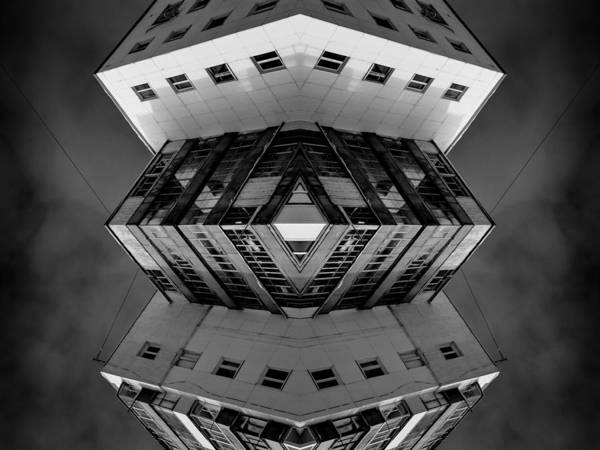 Photograph - Abstract Modern Architecture Symmetrical Art by John Williams