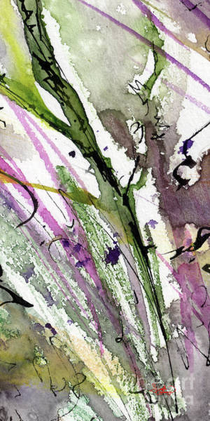 Painting - Abstract Modern Organic Watercolor And Ink 1 by Ginette Callaway