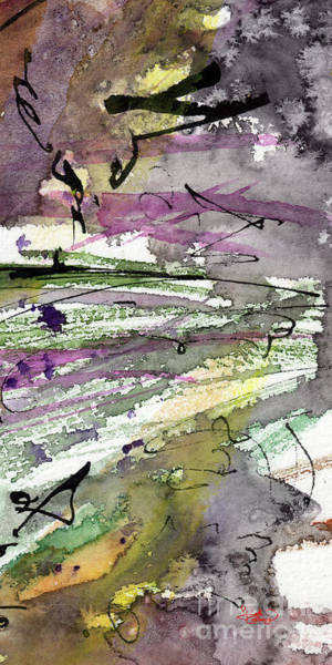 Painting - Abstract Modern Organic Watercolor And Ink 2 by Ginette Callaway