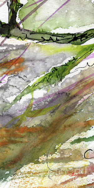 Painting - Abstract Modern Organic Watercolor And Ink 4 by Ginette Callaway