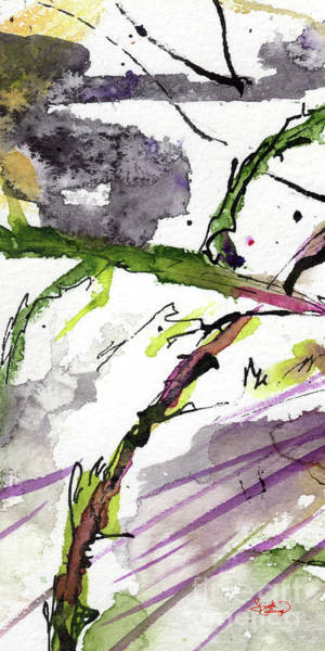 Painting - Abstract Modern Organic Watercolor And Ink 5 by Ginette Callaway