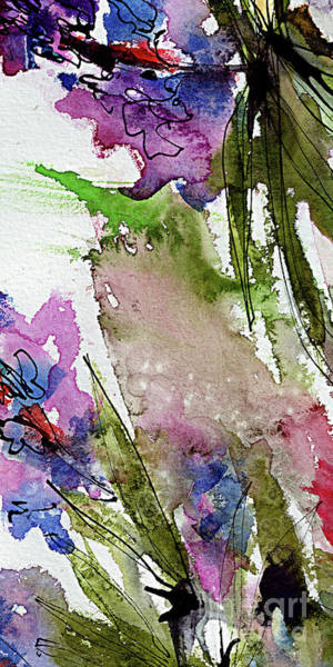 Painting - Abstract Modern Organic Watercolor And Ink 8 by Ginette Callaway