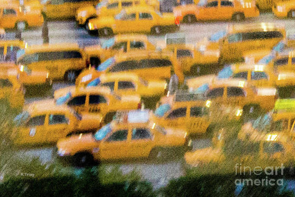 Claude Monet Photograph - Abstract Monet  Style Taxi by Rene Triay Photography