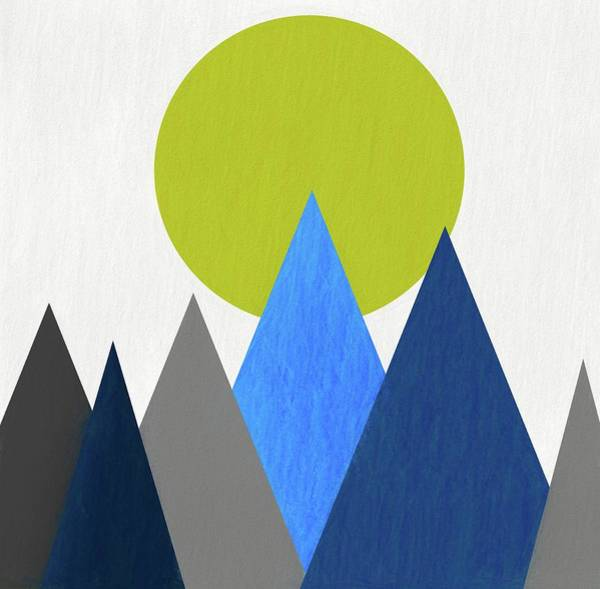 Wall Art - Digital Art - Abstract Mountains And Sun by Dan Sproul