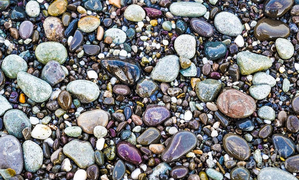 Photograph - Abstract Nature Tropical Beach Pebbles 871a Blue Purple Pink And Orange 871a by Ricardos Creations