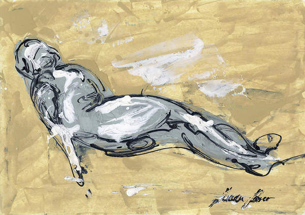 Wall Art - Painting - Abstract Nude by Juan Bosco