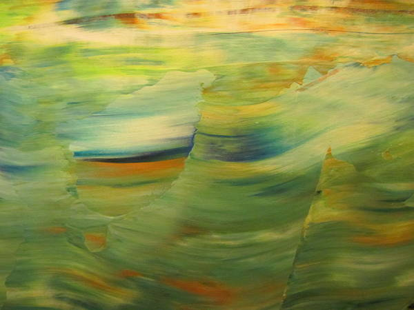 Painting - Abstract Ocean - Close Up 1 by Anita Burgermeister