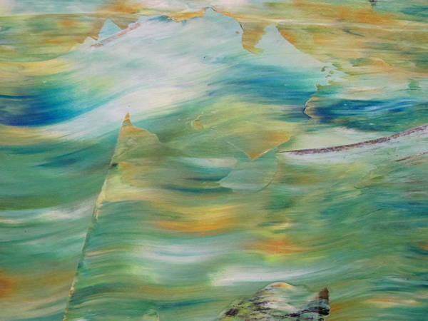 Painting - Abstract Ocean - Close Up 5 by Anita Burgermeister