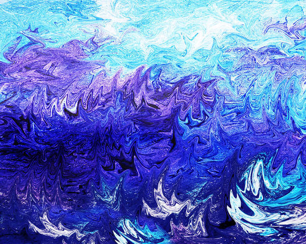 Painting - Abstract Ocean Fantasy Four by Irina Sztukowski