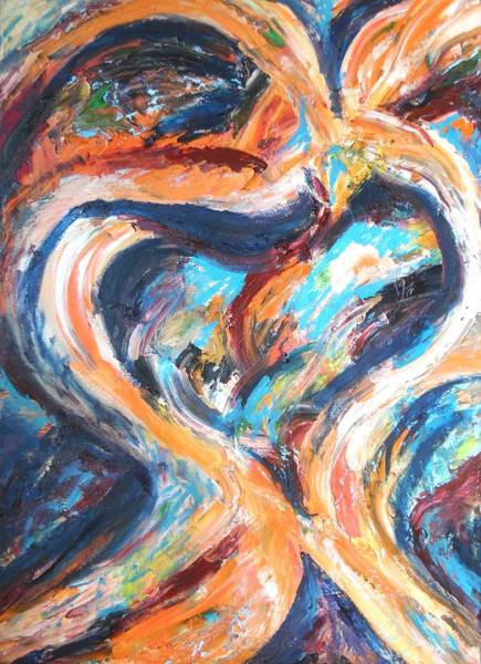 Womb Painting - Abstract Of Womb by Esther Newman-Cohen