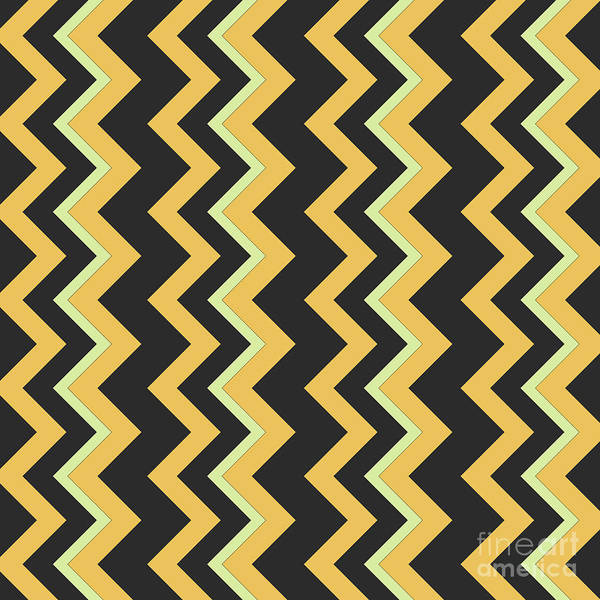 Wall Art - Digital Art - Abstract Orange, Dark Gray And Green Pattern For Home Decoration by Drawspots Illustrations