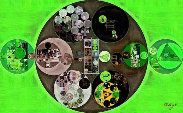 Wall Art - Digital Art - Abstract Painting - Bright Green by Vitaliy Gladkiy