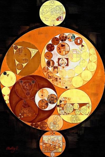 Burn Digital Art - Abstract Painting - Burnt Orange by Vitaliy Gladkiy