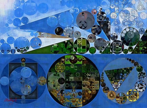 Abstraction Digital Art - Abstract Painting - Carolina Blue by Vitaliy Gladkiy